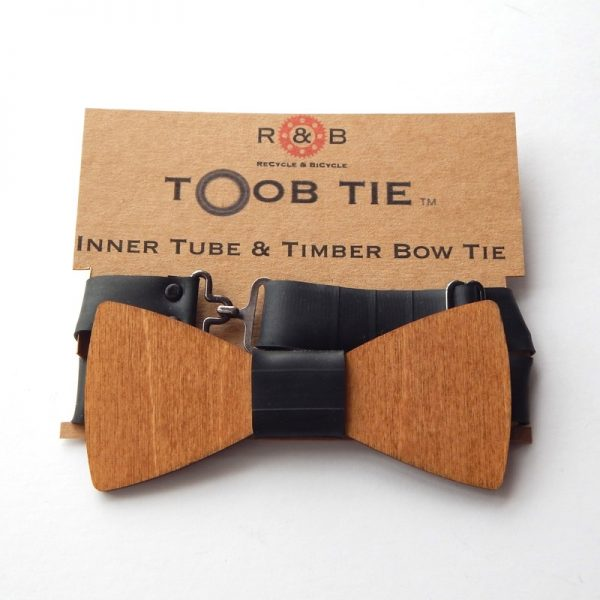 wood & inner tube bow tie