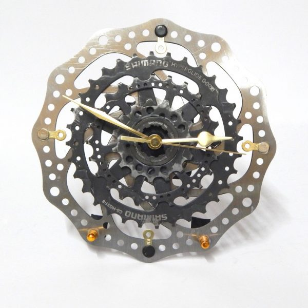 Recycled Bicycle Brake Rotor & Cassette Desk Clock