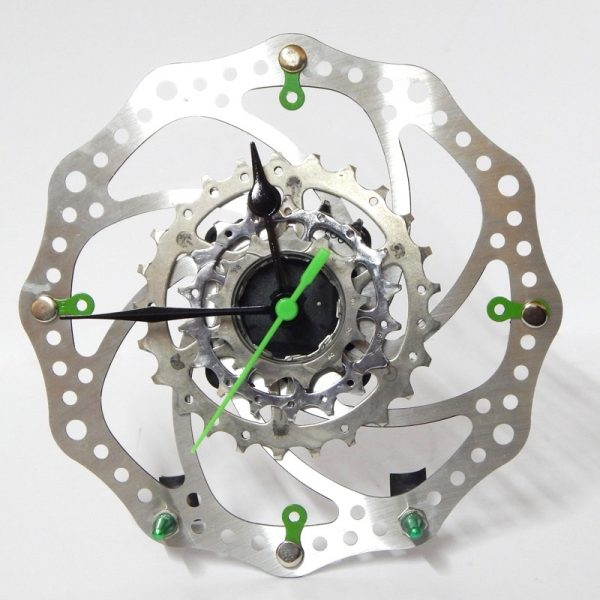 recycled bicycle wall clock