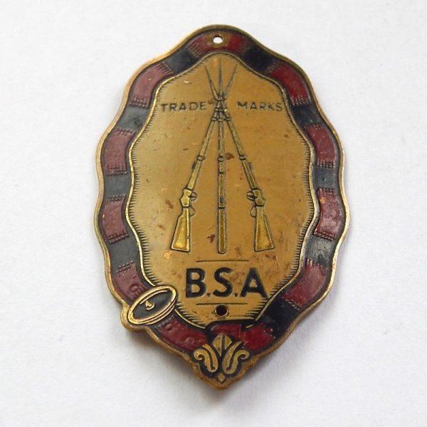 vintage bsa head badge