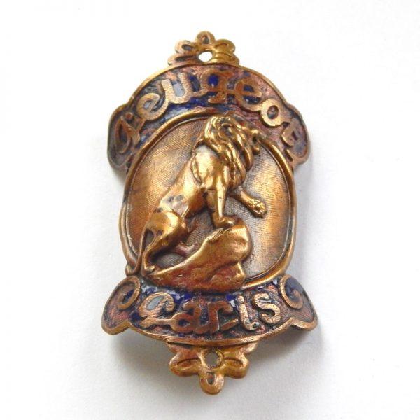 vintage peugeot head badge