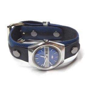 recycled bicycle tyre watch strap