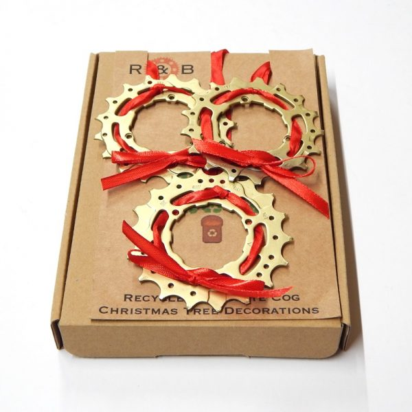 recycled bicycle christmas decorations