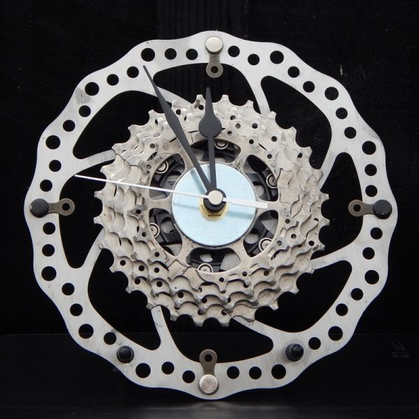 recycled bicycle parts desk clock