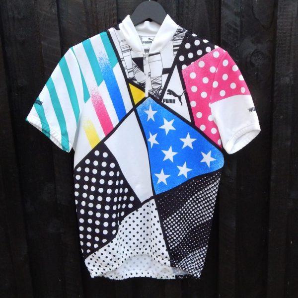retro puma cycling jersey