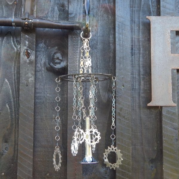 recycled bicycle parts wind chime