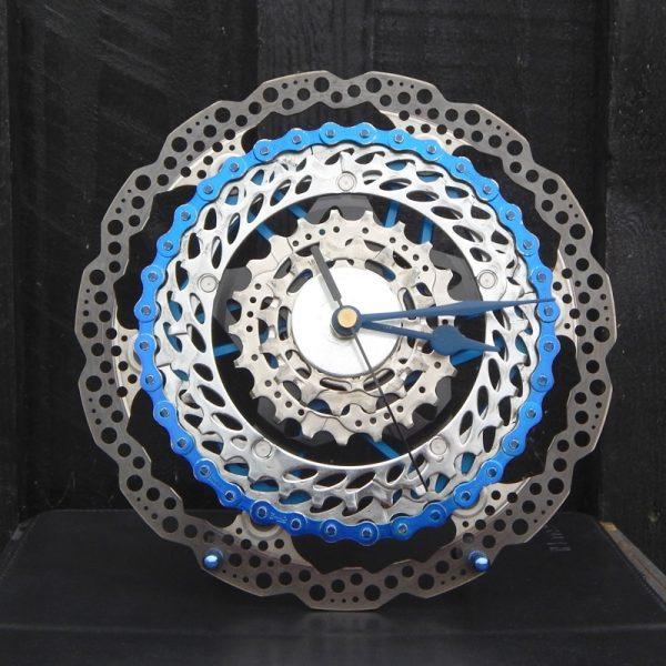 upcycled bicycle clock