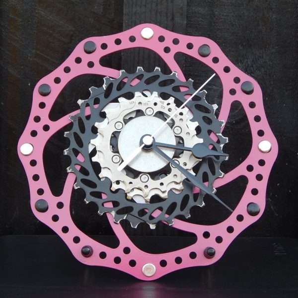 upcycled bicycle parts desk clock